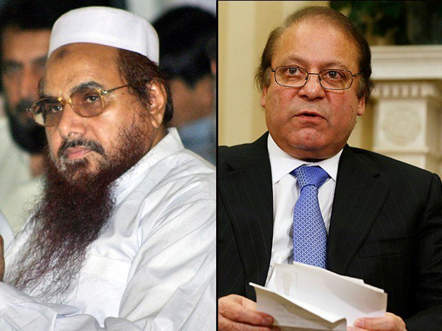Nawaz 'betrayed' Kashmiris ousted for 'treason' Hafiz Saeed