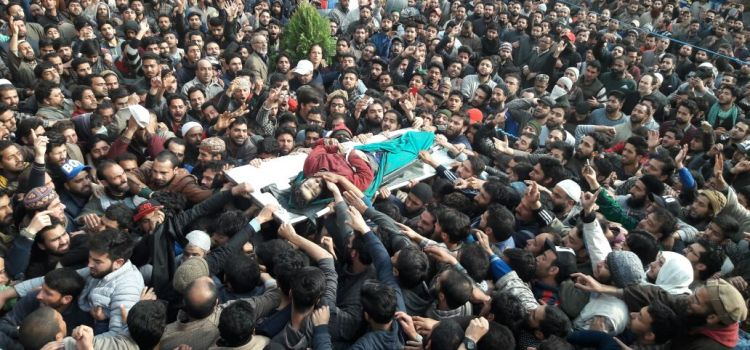 Kashmir: Father stifles his emotions to announce militant son's funeral
