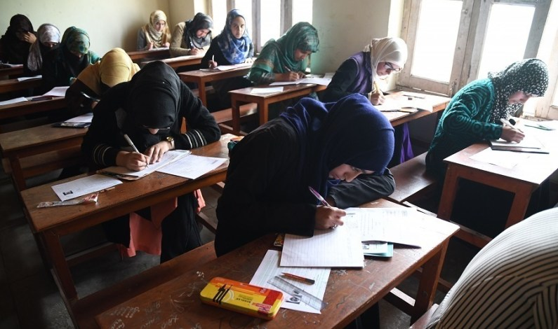 Students Appear In 10th Class Examinations Amid Shutdown