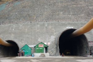Zojila Tunnel Section On Sgr-Leh Highway Being Concretised