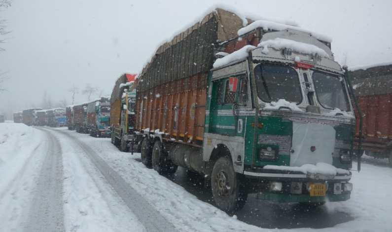 Traffic Suspended On Kashmir Highway After Fresh Snowfall