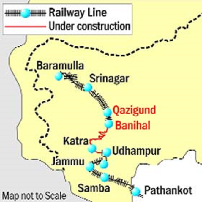 Image result for Deadline fixed for completion of Udhampur-Baramulla Rail Link by PM Modi