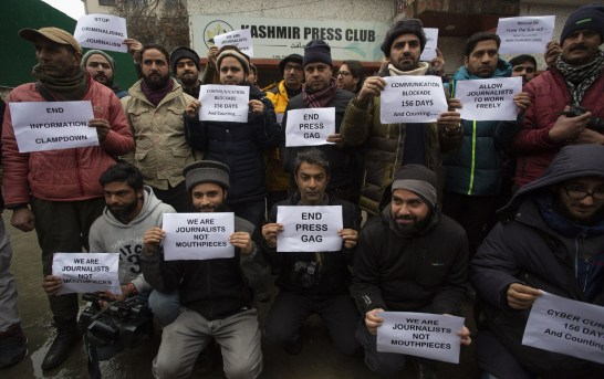 Media Curbs: Journalists in Kashmir Break Silence