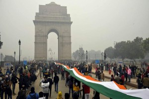 Anti-CAA Protest Held At India Gate, Traffic Affected