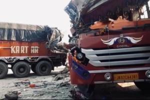 Jammu: 12 Injured In Bus-Truck Collision In Samba