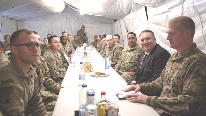 Pompeo Meets US Troops On Saudi Visit Following Talks With MBS