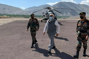 PM Modi Reaches Ladakh On Surprise Visit, Interacts With Troops