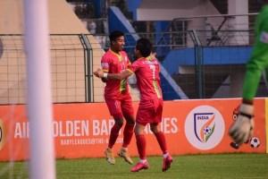 Bidyashagar Singh Hat-Trick Helps TRAU FC Trounce Real Kashmir 3-1