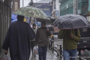 Fresh Snowfall In Kashmir Highlands, Rains Lash Plains