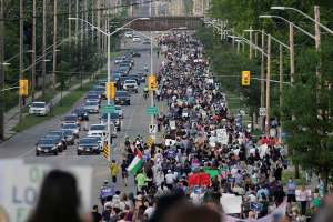 Thousands March In Support Of Muslim Family Killed In Canada