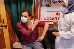 Vaccination Drive Held At Kashmir Press Club