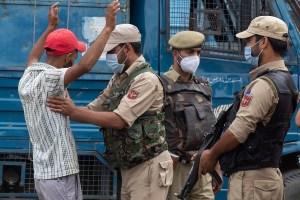 Kashmir Celebrations Amid Massive Security Bandobast