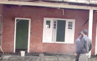 Government school set ablaze in Kulgam