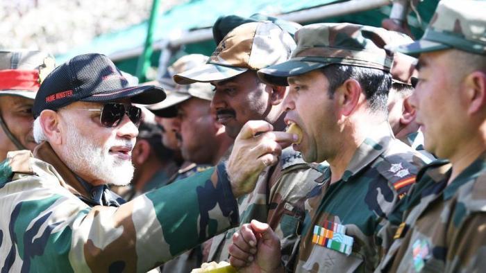 Modi celebrates Diwali with troops in Rajouri