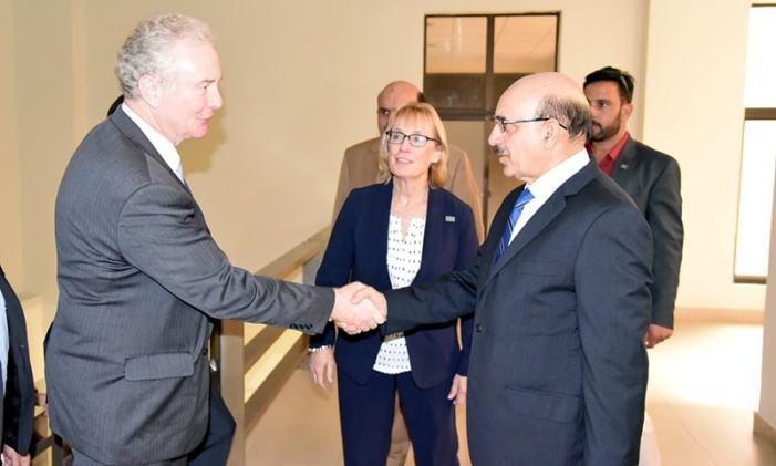 US senator barred from entering JK visits PaK