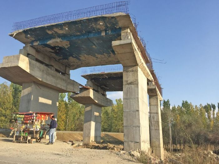 A year and half after opening, stretches of highway still incomplete