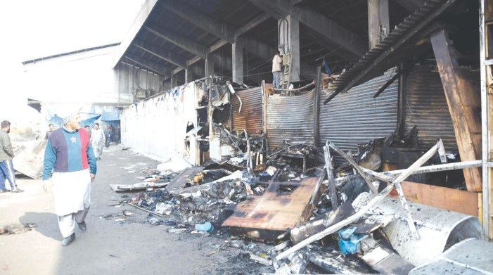 Ten shops gutted in fire at Batamaloo