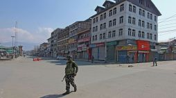 Deserted Lal Chowk after restrictions