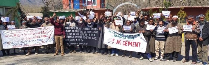 JK Cement employees protest, demand release of pending salaries