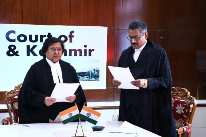 Justice Oswal becomes first J&K high court judge to take oath under Indian constitution