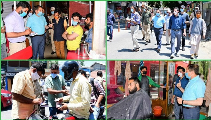 DC Ganderbal urges barbers,restaurant owners to follow SOPs strictly