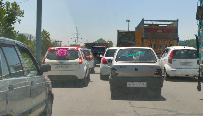 Srinagar-Qazigund highway continues to be a nightmare with long halts enforced to make way for convoys