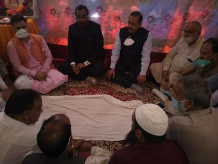 Ram Madhav visits slain Bandipora BJP leader's home