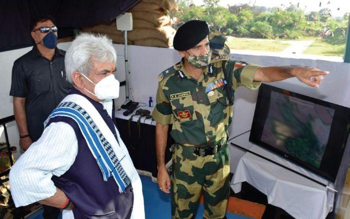 LG Manoj Sinha visits forward areas along IB in Samba, reviews security