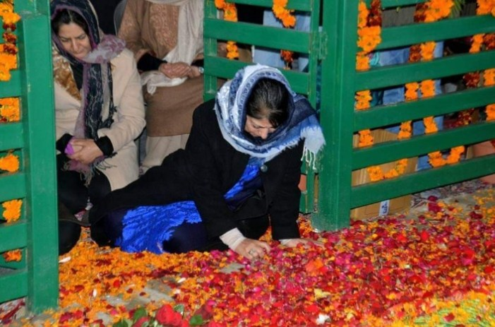 Probe agencies carrying out 'audit' of late Mufti Sayeed's grave, alleges Mehbooba