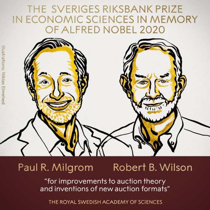 US economists Milgrom, Wilson win 2020 Nobel Prize in Economics