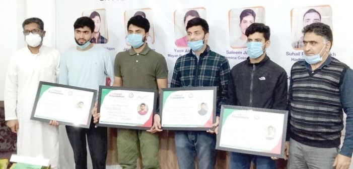 JKYF felicitates its class 12th pass outs