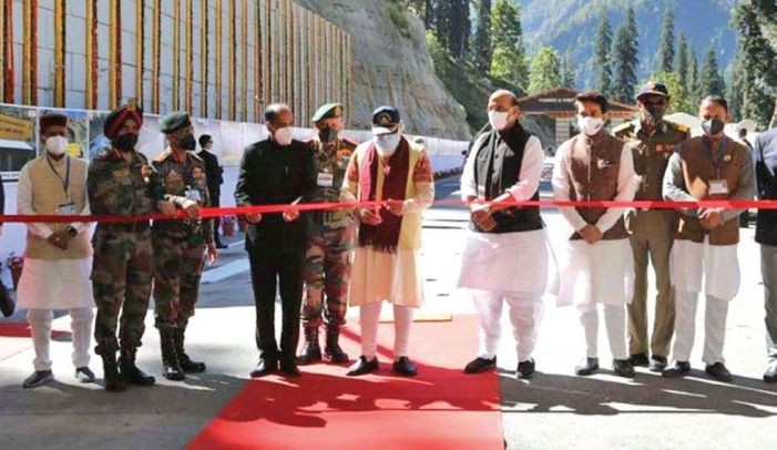 Modi inaugurates Atal Tunnel between Manali and Leh