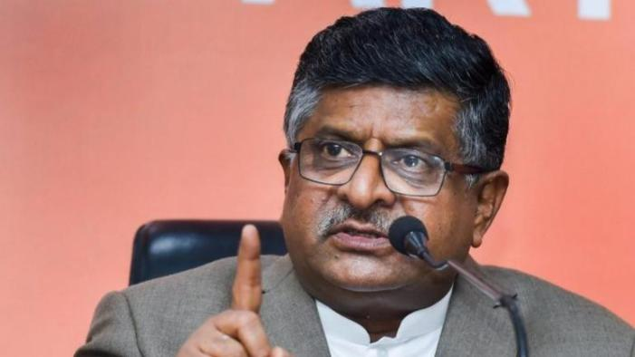 Comments against judges a disturbing new trend: Ravi Shankar Prasad