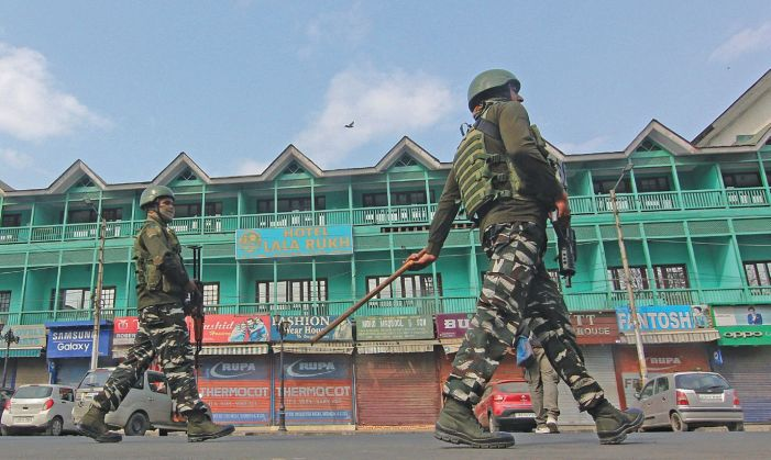 Shutdown in Kashmir against land laws