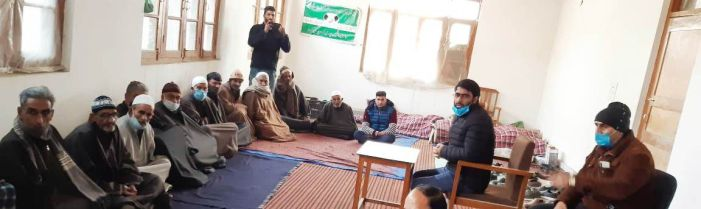 Tehsildar Pampore hold a meeting with Namardars, Chowkidars at Tehsil office