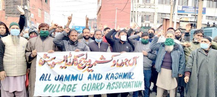 Village Chowkidars hold protest, seek increase in honorarium