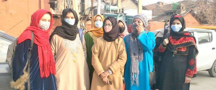 BA students from Women's College MA road protest, seek early declaration of results