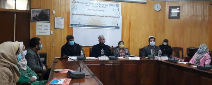 Kashmir University holds workshop on Leadership Development
