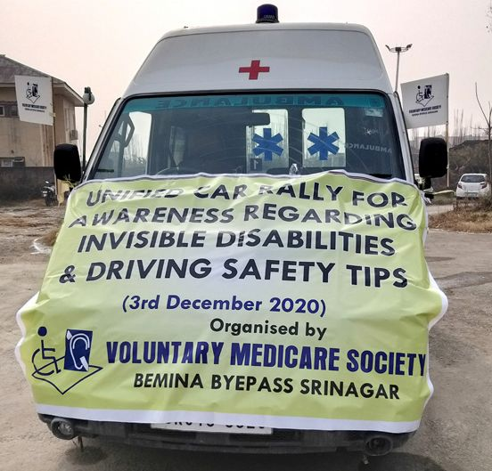 World Disability Day: Voluntary Medicare Society holds Unified Car Rally