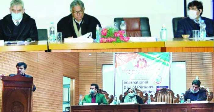 Kashmir University observes World Disability Day