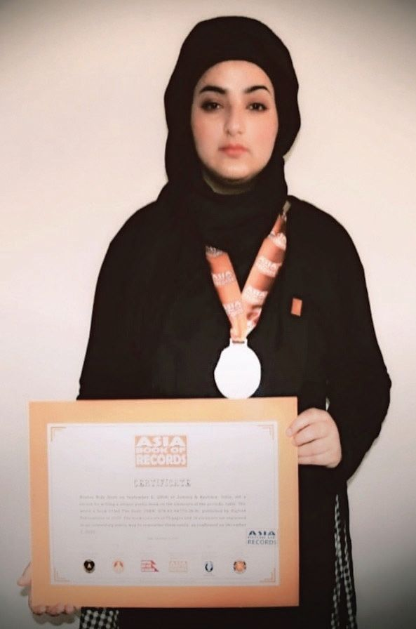Kulgam girl gets Kalaam Golden Award for poems on the Periodic Table