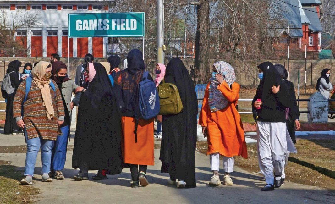 Colleges in Kashmir reopened on Monday amid partial attendance of students and strict Covid-19 SOPs