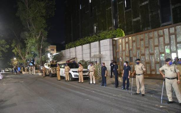 Vehicle with explosives found near Mukesh Ambani's house
