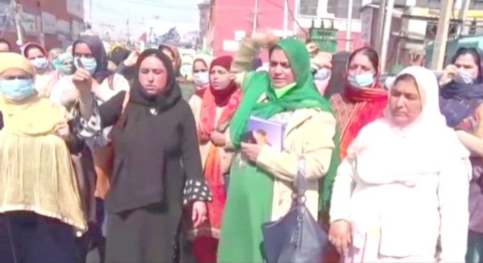 Anganwadi workers, helpers hold protest, demand wages, increase in honorarium