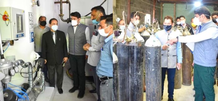 DC Srinagar inspects Oxygen Manufacturing Plants at Khonmoh, Rangreth