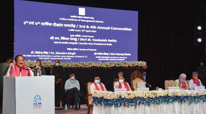 J&K integral part of India: Naidu