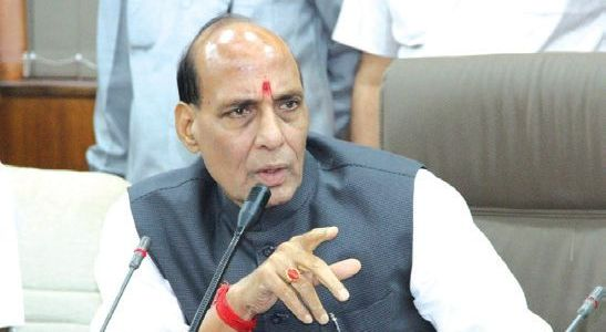 Can hold polls in JK along with LS elections if EC desires: Rajnath