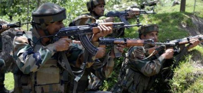 Encounter rages in Tral village