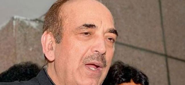BJP dissolved J&K assembly failing to create majority to form government: Ghulam Nabi Azad