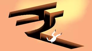 Rupee falls 54 paise, touches 71 level against US dollar